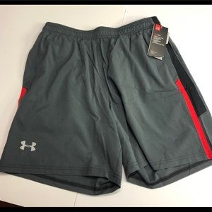 Under armour gray launch shorts size large